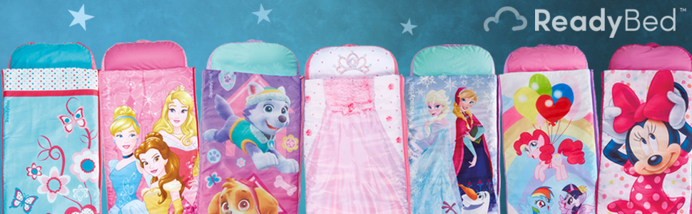 Junior ReadyBeds; disiney princess, trolls, PAW Patrol, Frozen, My little pony and minnie mouse