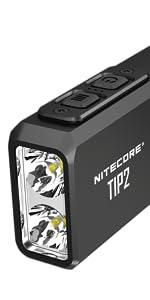nitecore, tip2, flashlight, brightest flashlight, best flashlight, EDC, led, brightest flashlight,