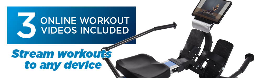 online workout videos included with purchase