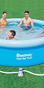 Bestway 57271 - Piscina Desmontable Autoportante Fast Set 274x76 ...