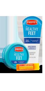 O'Keeffe's Healthy Feet Jar, Healthy Feet Exfoliating, and Lip Repair SPF Variety Pack