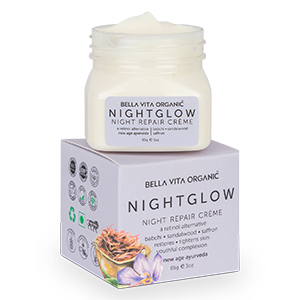 Bella Vita Organic Night Glow Face Cream For Skin Repair, Hydration, Anti Ageing & Dryness Control