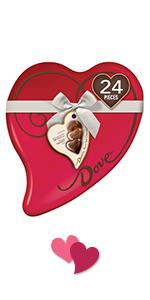 DOVE Truffles in a Heart-shaped Tin