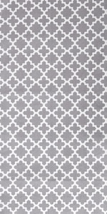 Lattice Collection Table Runner in Gray