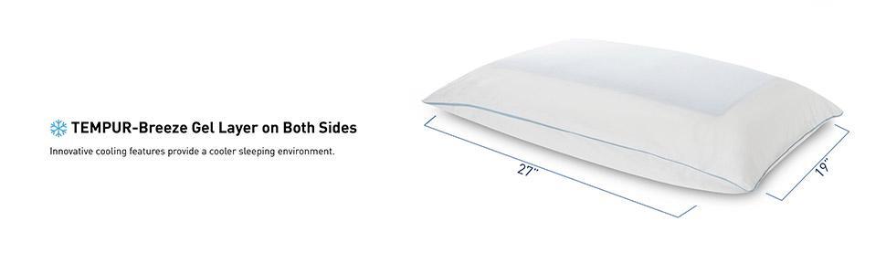 Amazon Com Tempur Cloud Breeze Dual Cooling Pillow Queen