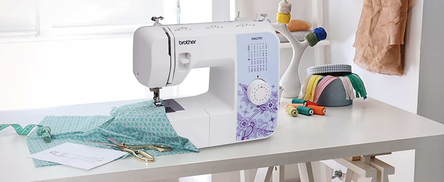 Brother XM2701 Sewing Machine, Lightweight, Full ...