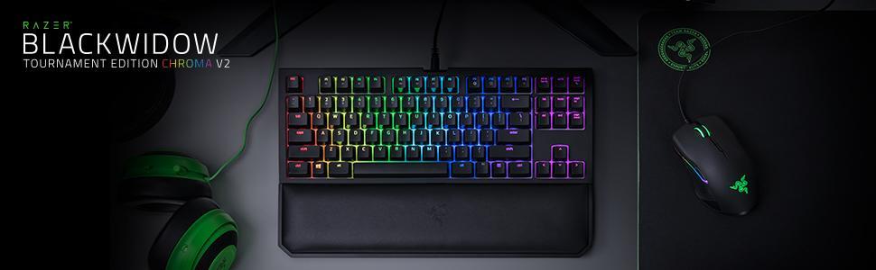 Keyboard Razer BlackWidow Tournament Edition Chroma V2 Quartz Edition
