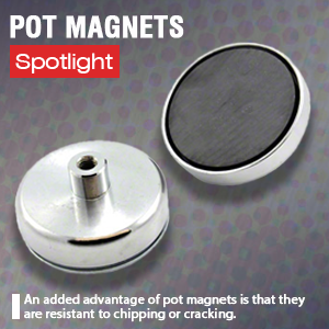 15kg Pull Pack of 50 Magnet Expert 40mm dia x 8mm thick x 5mm c//sink Ferrite Y30BH Pot Magnet