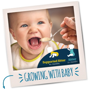 Gerber has cereals that grow with baby, from first foods to second foods.