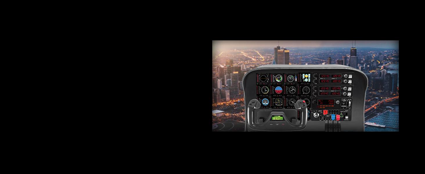 Logitech 945-000027 G Pro Flight Instrument Panel