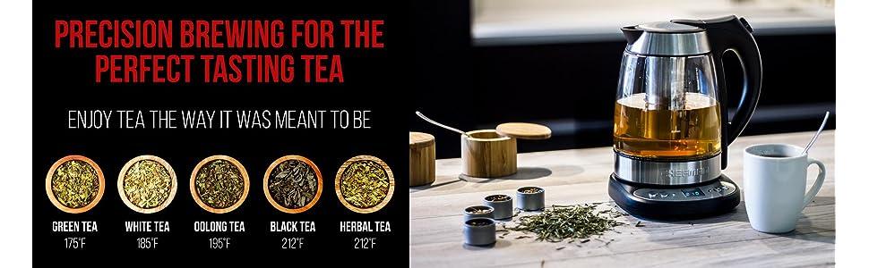 Tea; Kettle; Infuser; Chefman; Precision; Tea Kettle; Electric Kettle