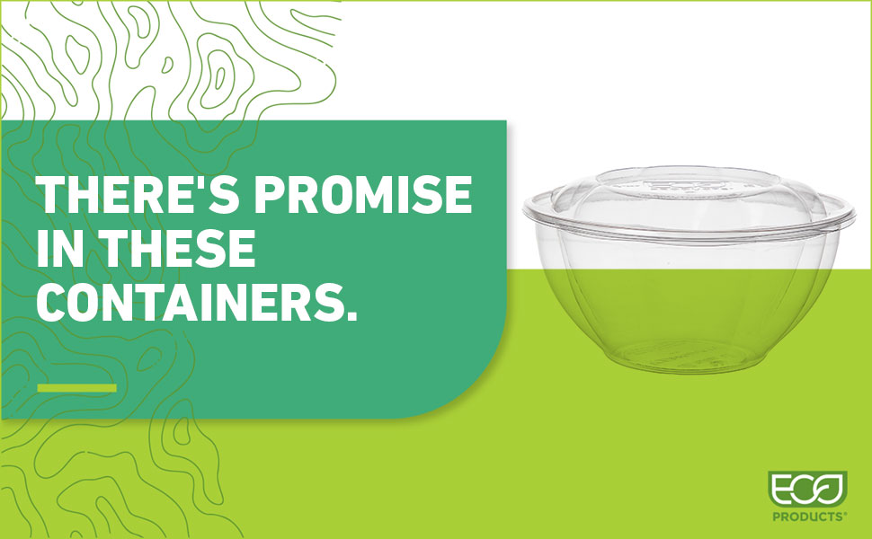 There's promise in these containers. Clear PLA Salad Bowl with lid