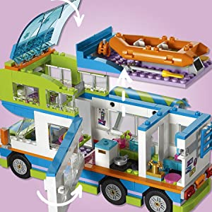 lego friends le camping car de mia 41339 jeu de construction jeux et jouets. Black Bedroom Furniture Sets. Home Design Ideas