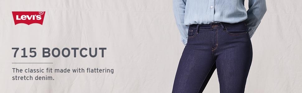 c0cabfb58eb Levi's Women's 715 Vintage Bootcut Jeans at Amazon Women's Jeans store