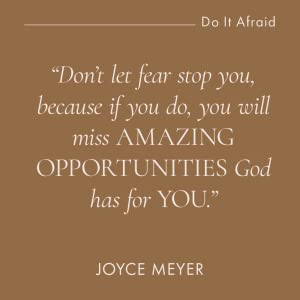 joyce meyer, new book, do it afraid, New York times bestseller, bestselling author, no fear, freedom