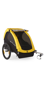 Burley bee double 2 kids bike trailer