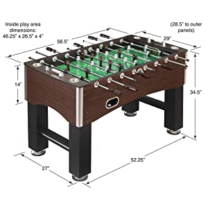 Amazoncom Hathaway Inch Primo Foosball Table Family Soccer - Official foosball table