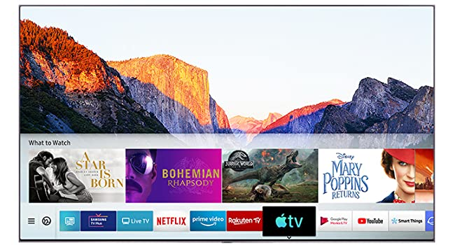 Watch all new Apple TV channels on your QLED with the new Apple TV app