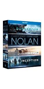 coffret;Nolan;Blu-Ray;Dunkerque;Inception;Interstellar;cadeau;Noel