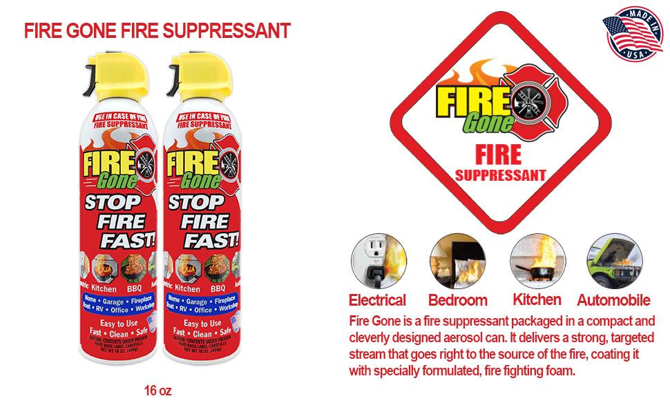 FIRE GONE FIRE SUPPRESSANT