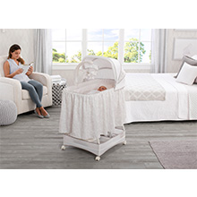 bassinet sleep white baby infant rock rocker