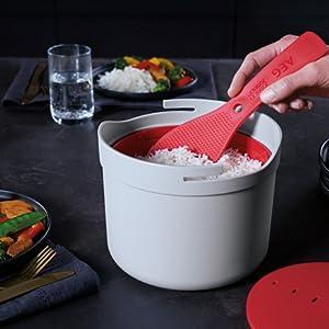 AEG A9MBSTE2 Recipiente para cocinar arroz y grano: Amazon.es ...