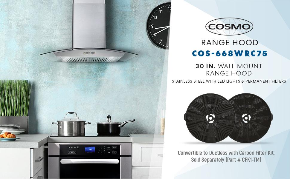 Cosmo Cos 668wrc75 Range Hood 30 Inches Amazon Ca Home Kitchen