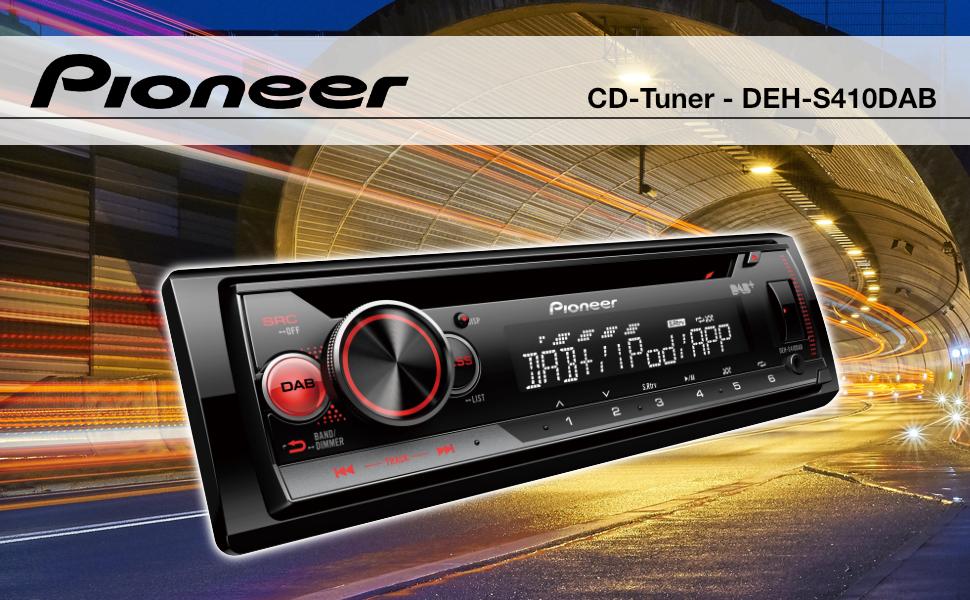 Pioneer DEH-S410BT - Sintonizador RDS con CD, Color Negro