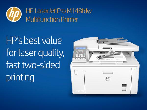 HP Laserjet Pro M148fdw All-in-One Wireless Monochrome Laser