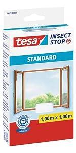 tesa insect stop moustiquaire standard pour fen tre x blanche bricolage. Black Bedroom Furniture Sets. Home Design Ideas