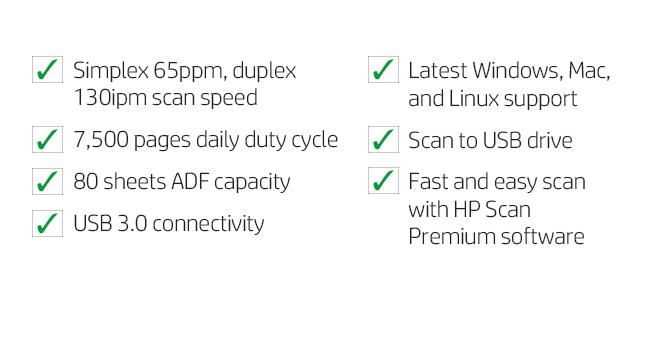 simplex duplex scan auto document feeder USB drive premium software