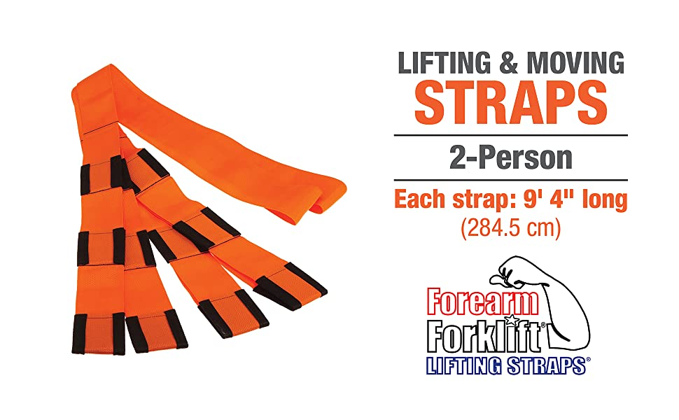 One pair of patented adjustable polypropylene straps.