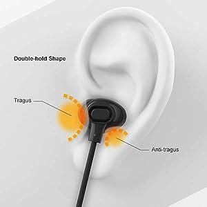 Blue wireless earbuds
