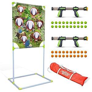 hunting, target practice, indoor games, outdoor games, lawn games, foam blasters, target games, toys