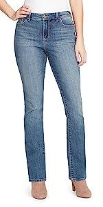 Bandolino bleu stretch denim jeans Mandie boot cut