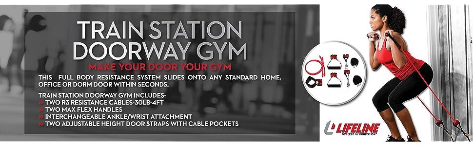 Fitness & Jogging Lifeline TRAIN STATION DOORWAY GYM