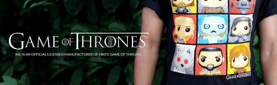 Isaac Morris Game of Thrones POP Vinyl Characters Men T-Shirt GT3M0053OL US