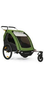 Burley encore double 2 kids bike trailer stroller