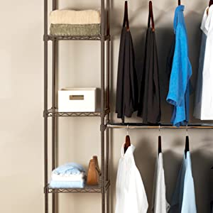 Amazon Com Seville Classics Double Rod Expandable Clothes
