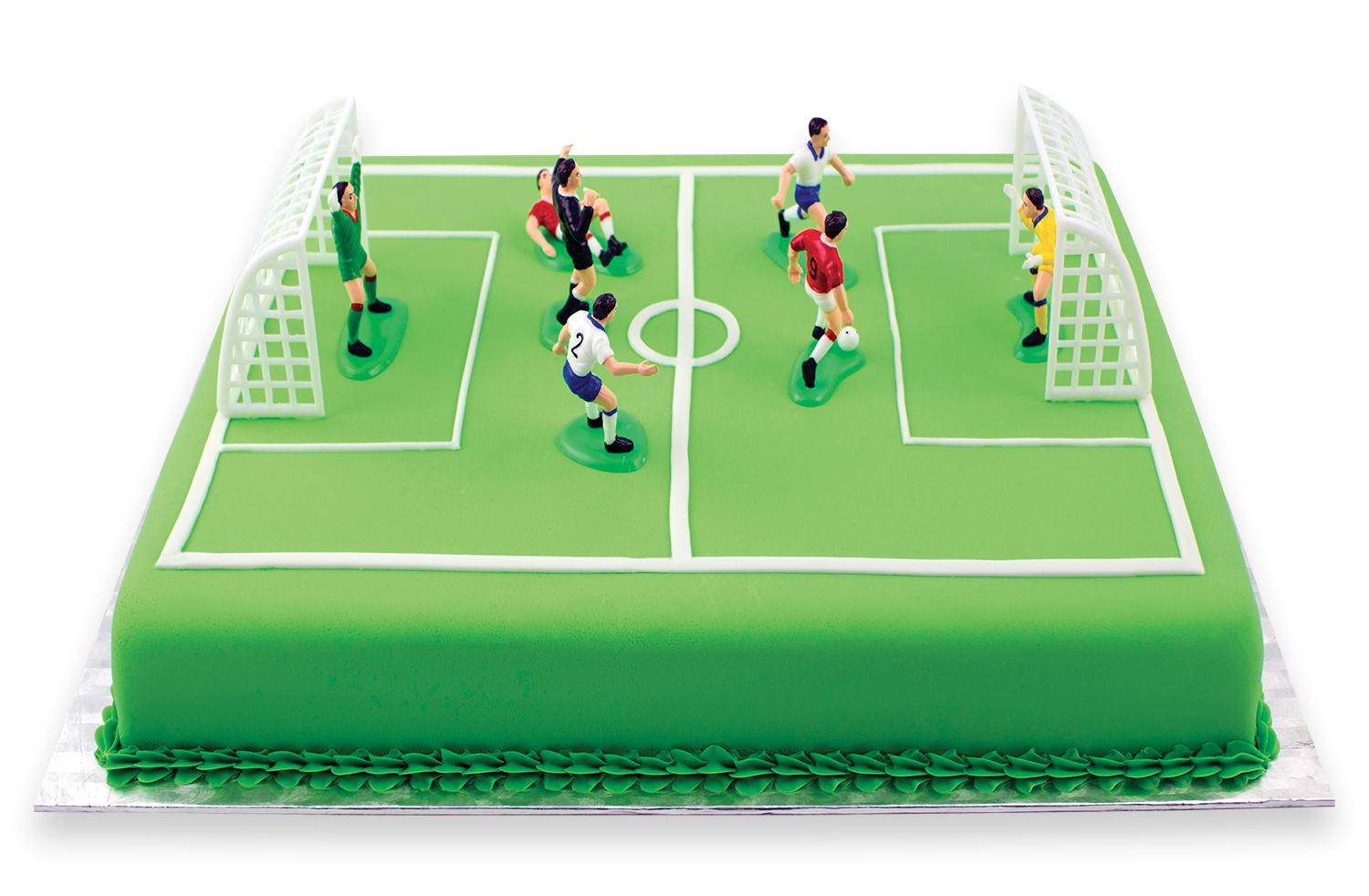 Pme Football Soccer Toppers For Cake And Cupcakes Set Of