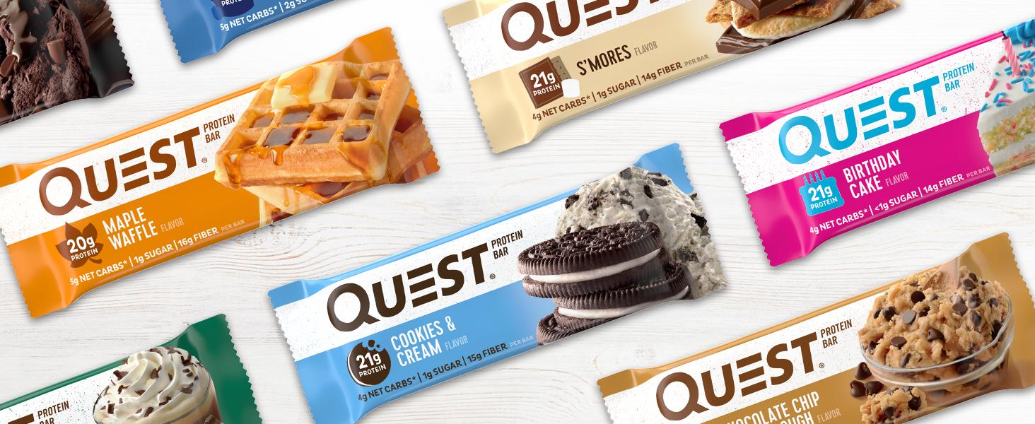 Amazon Com Quest Nutrition Birthday Cake Protein Bar High Protein