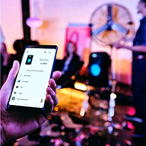 Run everything from the dancefloor | Music Center app