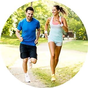 ejercicio, hombre, mujer, saludable, vitaminas, minerales, correr,
