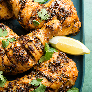 Moroccan-Inspired Roasted Spiced Chicken
