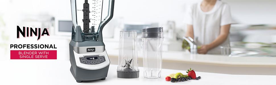 Ninja professional blender with single serve, counter top blender, personal blender, blender cups