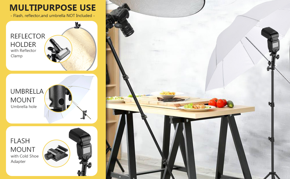 CAOMING Photo Video Photography Studio Reflector Holder Clip for Light Stand Durable