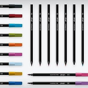Amazon Com Bic Color Collection By Conte Coloring Pencil Assorted