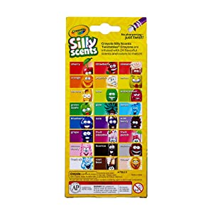 Crayola Silly Scents Twistables Crayons - Back of Package