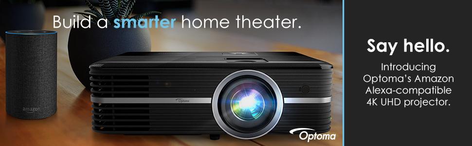 amazon alexa compatible; optoma projector; optoma 4k projector; 4k projector; uhd projector; alexa