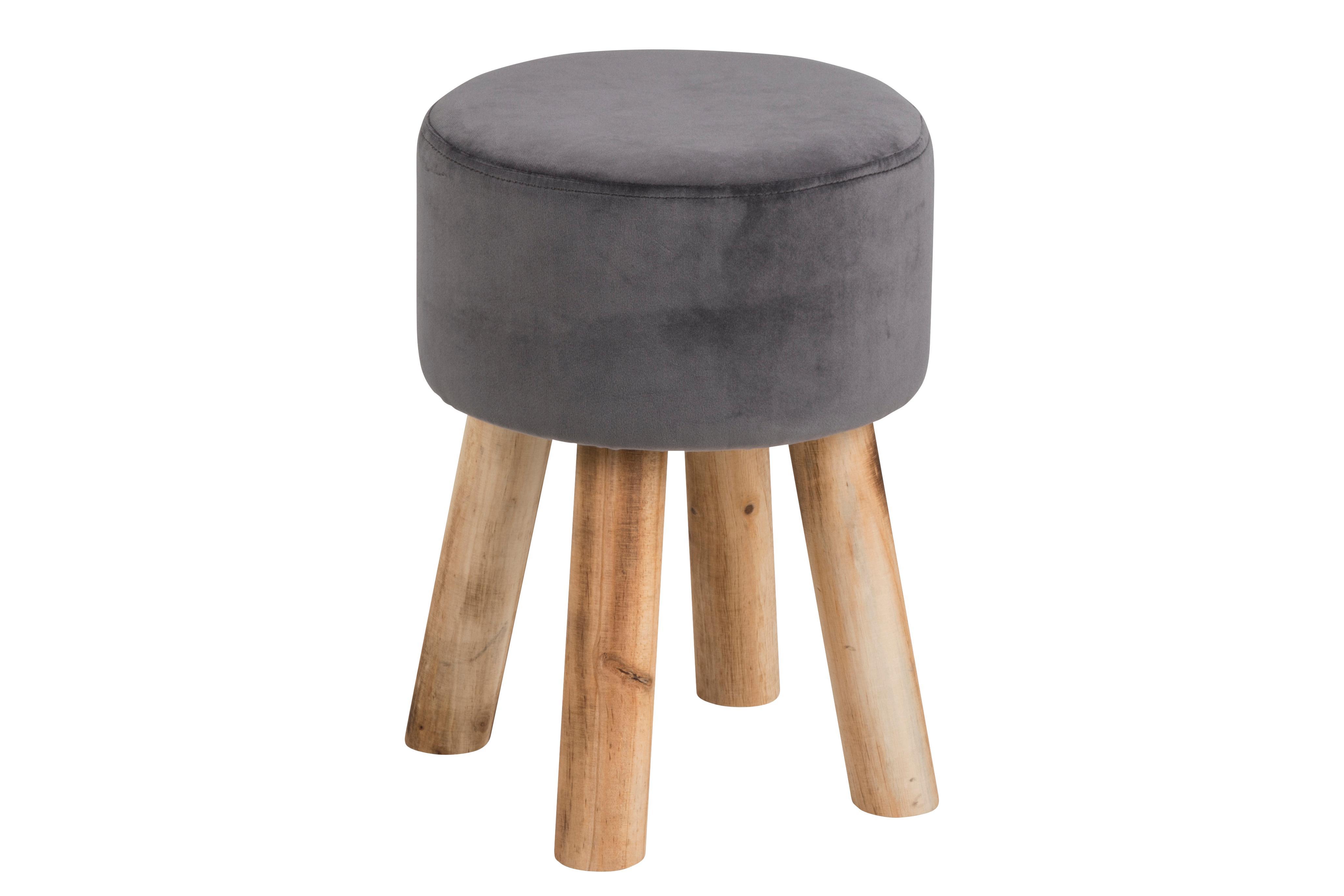 Design Fell Hocker Weiß Massiv Holz Sitzhocker